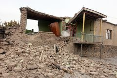 Village after Earthquake Stock Images