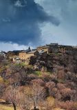 Village in eastern pyrenees Royalty Free Stock Photo