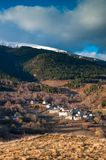 Village in eastern pyrenees Royalty Free Stock Image