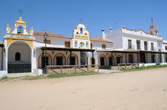 The village of El Rocio, near Huelva, Spain Royalty Free Stock Images