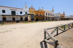 The village of El Rocio, near Huelva, Spain Stock Photo