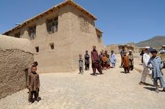 Village en Afghanistan images stock