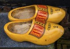 Village en bois Holland Netherlands de moulin à vent de Zaanse Schans de chaussures images stock