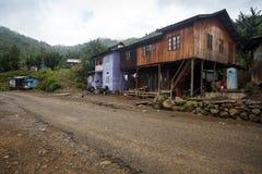 Village en Chin State, Myanmar images libres de droits