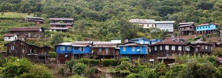 Village en Chin State, Myanmar Image libre de droits