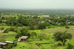 Village en Inde Photo stock