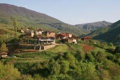 Village en Macédoine Photos stock