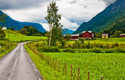 Village en Norvège images stock