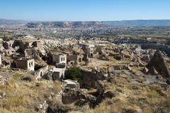 Village en pierre d'Ancinet en Turquie, Moyen-Orient photographie stock