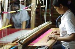 Village en soie de Tasawan dans Surin Photo libre de droits