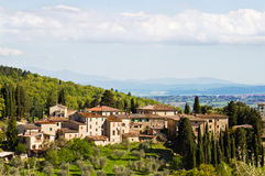 Village en Toscane. Photos stock