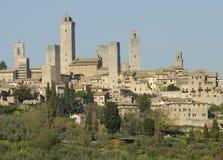 Village en Toscane Photos libres de droits