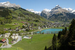 The village of Engelberg Stock Photography
