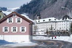 The village of Engelberg Royalty Free Stock Photos