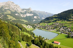 The village of Engelberg Royalty Free Stock Images