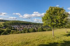 Village of Engenhahn in the Taunus mountains Royalty Free Stock Photography