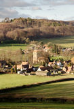 Village in England. Landscpae of an English Village basking in the Winter Sunshine Stock Photos