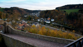 Village in the Erzgebirge stock photography