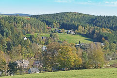 Village in the Erzgebirge royalty free stock photography