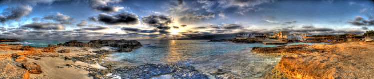 Village of & x22;Es Caló& x22; in Formentera royalty free stock photography