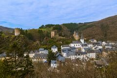 Free Village Esch Sur Sure In Luxembourg Stock Image - 175775301