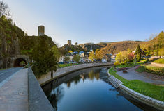 Village Esch sur Sure in Luxembourg. Travel background Royalty Free Stock Image