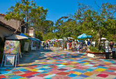Village espagnol, stationnement de balboa Photographie stock