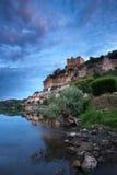 Village et chateaux de Beynac photo libre de droits