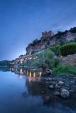 Village et chateaux de Beynac images libres de droits