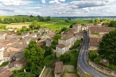 Village et vigne français Photographie stock libre de droits