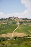 Village et vigne toscans photographie stock libre de droits