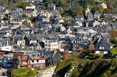 Village of Etretat in France Stock Photography