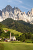 Village in the European Alps. Village in the Dolomites region of the European Alps Stock Photos