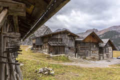 Village in the European Alps Stock Photo