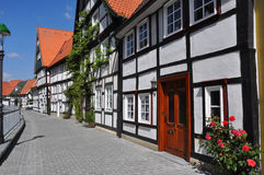 Village of fachwerkhäuser in germany Stock Images