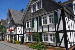 Village of fachwerkhäuser in germany Royalty Free Stock Image