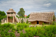 Village faktory de commerce antique dans Pruszcz Gdanski photographie stock