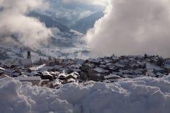 Village of Falera, Swiss Apls Stock Photography