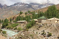 The village in Fann Mountains, Tajikistan Royalty Free Stock Photography