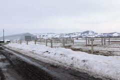 Village farm in winter Royalty Free Stock Photography