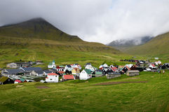 Village in the Faroe Islands Royalty Free Stock Photos
