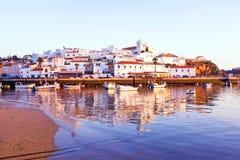 The village Ferragudo in the Algarve Portugal Stock Image