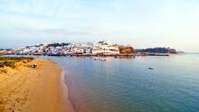 The village Ferragudo in the Algarve Portugal Royalty Free Stock Photos