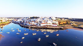 The village Ferragudo in the Algarve Portugal Royalty Free Stock Photography