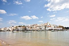 The village Ferragudo in Portugal Stock Photo