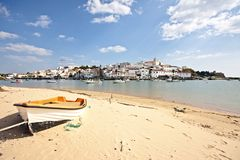 The village Ferragudo in Portugal Stock Photography