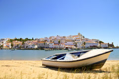 The village Ferragudo in Portugal Royalty Free Stock Image