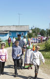 Village festivities. Shelota, Verkhovazhsky District, Vologda Region, Russia - June 23, 2013: Patronal Feast of the Blessed Trinity in the village Shelota Stock Photo