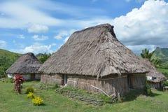 Village Fidji de Navala Photographie stock