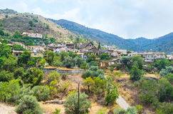 The village of Fikardou Stock Photos